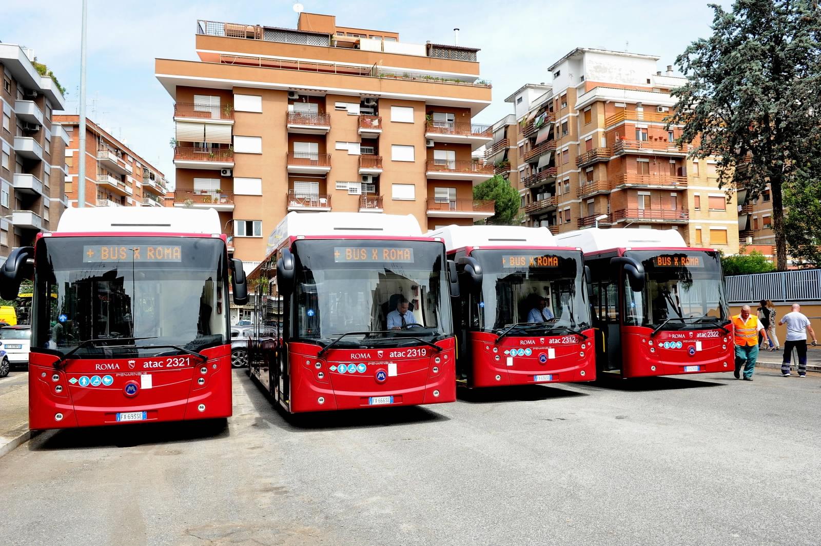 I nuovi autobus acquistati da Roma Capitale