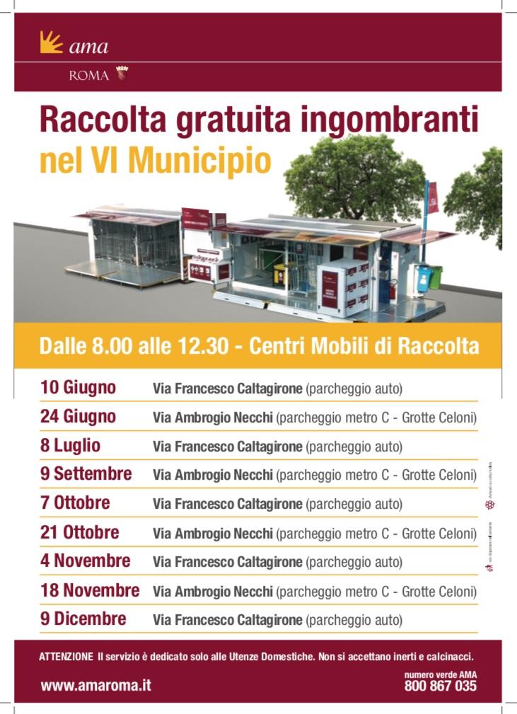 Calendario Raccolte Domenicali Ama.Roma Capitale Sito Istituzionale Informazione Di Servizio